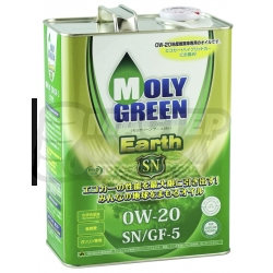 MolyGreen Earth 0W-20 SN/GF-5 4л