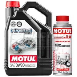MOTUL Hybrid 0W-20 SN 4л + Engine Clean 0,3л (АКЦИЯ)