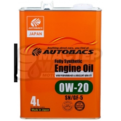 Autobacs Engine Oil FS 0W-20 SN/GF-5 4л (Япония)