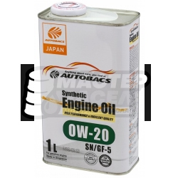 Autobacs Engine Oil Synthetic 0W-20 SN/GF-5 1л (Сингапур)