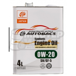 Autobacs Engine Oil Synthetic 0W-20 SN/GF-5 4л (Сингапур)