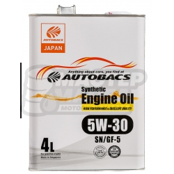 Autobacs Engine Oil Synthetic 5W-30 SN/GF-5 4л (Сингапур)