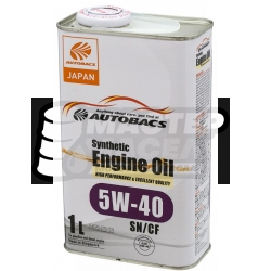 Autobacs Engine Oil Synthetic 5W-40 SN/CF 1л (Сингапур)