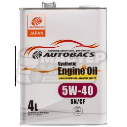 Autobacs Engine Oil Synthetic 5W-40 SN/CF 4л (Сингапур)